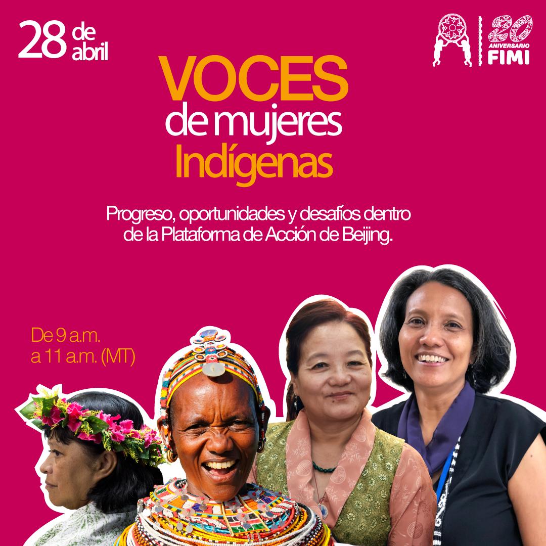 Cuando la incidencia política encuentra nuevos espacios: webinar Voces de Mujeres Indígenas